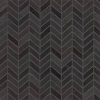 Absolute Black Granite Chevron Mosaic Polished Tiles (Box of 10 Sheets)