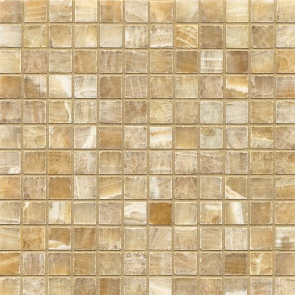 Colors Of Onyx Tiles : Sweet honey onyx mosaic polished tiles box of sheets