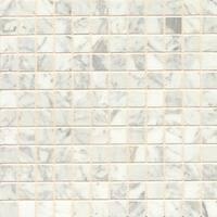 White Carrara Marble Mosaic Polished Tiles (Box of 10 Sheets)
