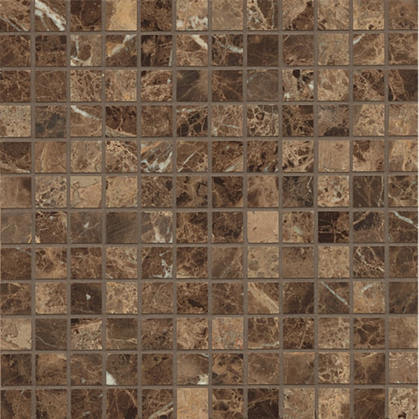 Shop Emperador Dark Marble Mosaic Polished Tiles Box Of
