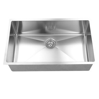 BOANN Handmade Single Bowl Undermount 304 Stainless Steel Kitchen Sink