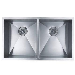 BOANN Handmade Double Bowl 16 Guage Undermount 304 Stainless Steel Kitchen Sink