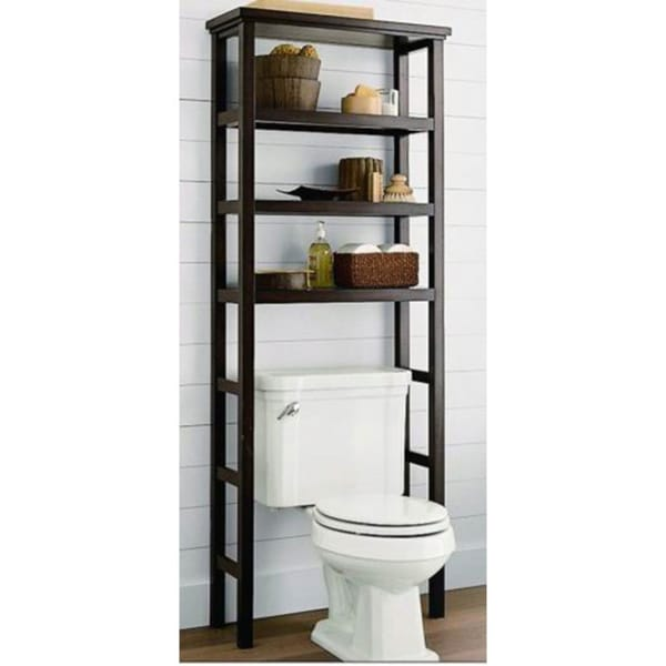Shop Space Saver Over The Toilet Rack Brown Free Shipping Today Overstock 8234939