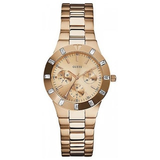Guess Women's U13013L1 Gold Stainless-Steel Quartz Watch with Rose-Gold Dial