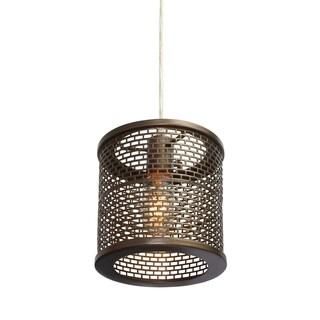 Varaluz Lit-Mesh Test 1-light New Bronze Mini Pendant