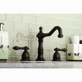 Victorian Oil Rubbed Bronze Widespread Bathroom Faucet