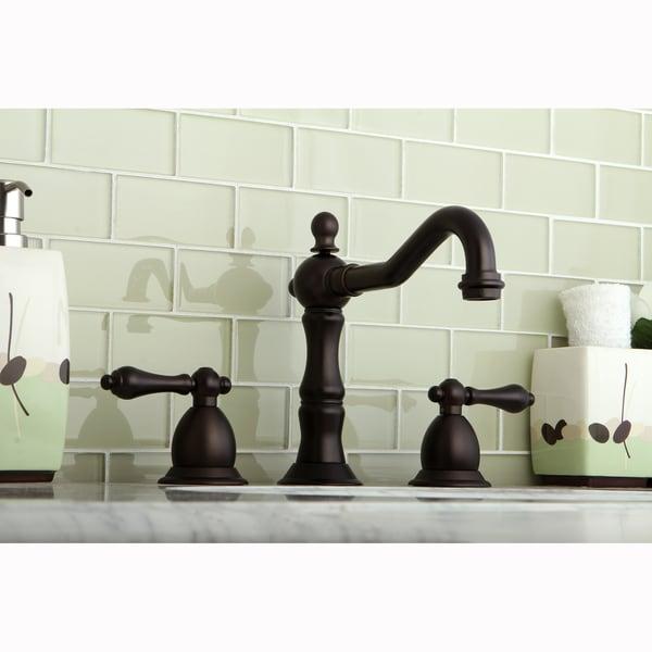 Shop Victorian Crystal Widespread Bathroom Faucet: Shop Victorian Oil Rubbed Bronze Widespread Bathroom Faucet
