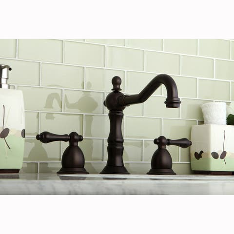 Victorian Oil Rubbed Bronze Widespread Bathroom Faucet - Oil Rubbed bronze - Oil Rubbed bronze