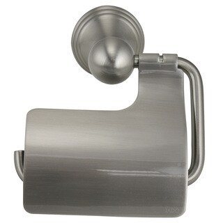 Jado Classic Hooded Brushed Nickel Toilet Paper Holder