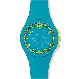 Swatch Women's Originals SUSL400 Blue Rubber Quartz Watch with Blue Dial
