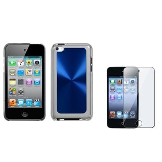INSTEN Blue Cosmo iPod Case Cover/ Screen Protector for Apple iPod Touch 4