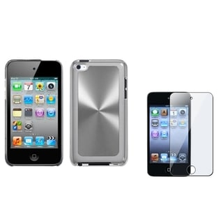 INSTEN Silver Cosmo iPod Case Cover/ Screen Protector for Apple iPod Touch 4