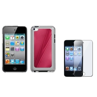 INSTEN Red Cosmo iPod Case Cover/ Screen Protector for Apple iPod Touch 4