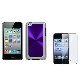 INSTEN Purple Cosmo iPod Case Cover/ Screen Protector for Apple iPod Touch 4