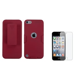 Insten iPod Case Cover With Holster/ Anti-glare Screen Protector for Apple iPod Touch 5th/ 6th