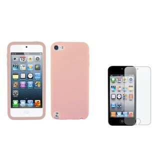 Insten Skin iPod Case Cover/ Anti-glare Screen Protector for Apple iPod Touch 5th/ 6th