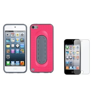 Insten iPod Case Cover/ Anti-glare Screen Protector for Apple iPod Touch 5th/ 6th