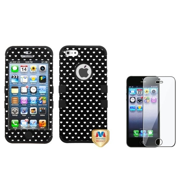 BasAcc Vintage Heart TUFF Case/ Screen Protector for Apple iPhone 5
