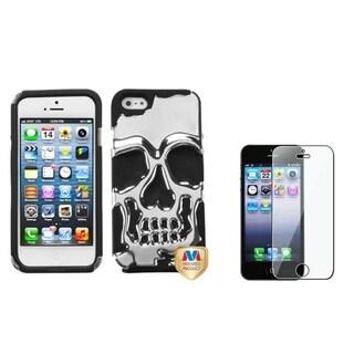 INSTEN Skullcap Hybrid Phone Case Cover/ LCD Protector for Apple iPhone 5/ 5C/ 5S/ SE