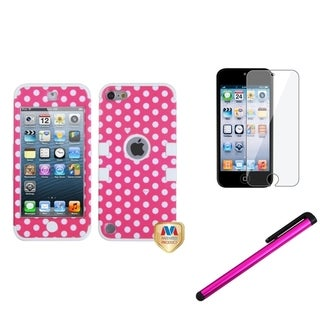 Insten Dots TUFF iPod Case Cover/ Stylus/ LCD Protector for Apple iPod Touch 5th/ 6th