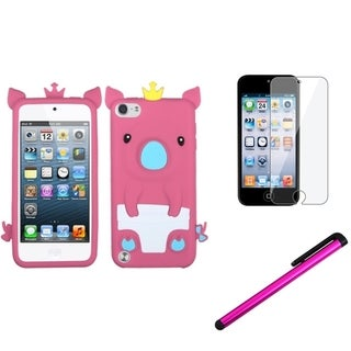 Insten Piggy iPod Case Cover/ Stylus/ Clear LCD Screen Protector for Apple iPod Touch 5th/ 6th