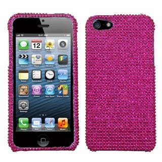 INSTEN Hot Pink Diamante Protector Phone Case Cover for Apple iPhone 5/ 5S/ SE
