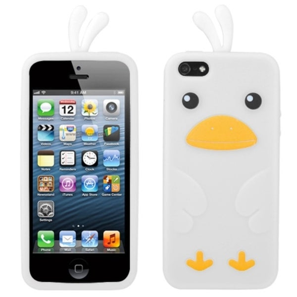 INSTEN White Chick Pastel Skin Phone Case Cover for Apple iPhone 5 / 5S / SE