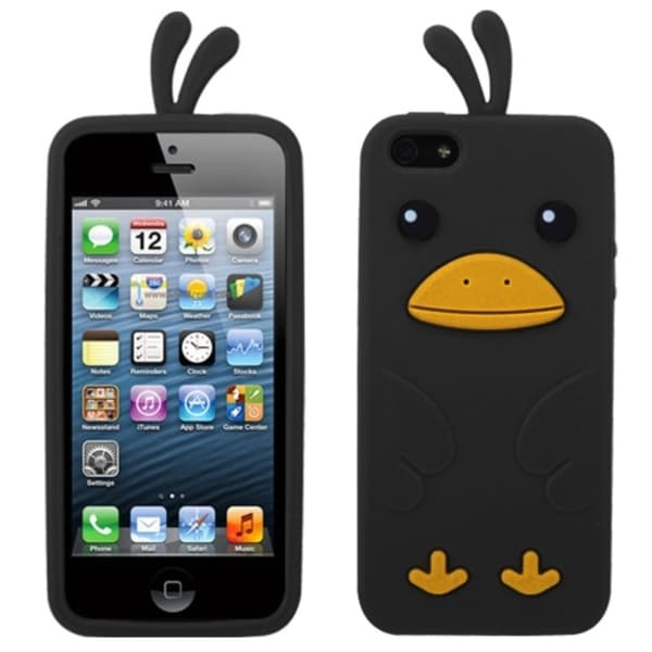 INSTEN Black Chick Pastel Skin Phone Case Cover for Apple iPhone 5