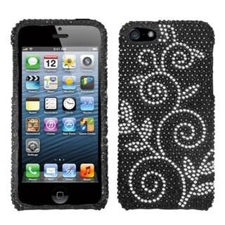 INSTEN Dark Wonderland Diamante Protector Phone Case Cover for Apple iPhone 5/ 5S/ SE