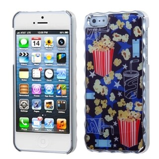 INSTEN Silver Plating Cola/ Popcorn Alloy Phone Case Cover for Apple iPhone 5 / 5S / SE