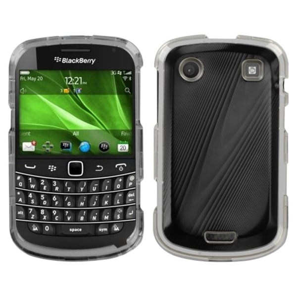 INSTEN Black/ Cosmo Phone Case Cover for Blackberry 9930 Bold