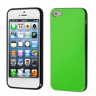 INSTEN Apple Green/ Black Candy Skin Phone Case for Apple iPhone 5/ 5S/ SE