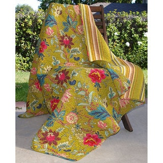 Greenland Home Fashions Mendocino Floral Quilted Throw