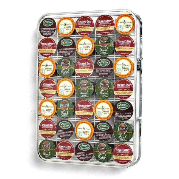 35 Cup Chrome Universal K Cup Storage Rack  sc 1 st  Overstock.com & Shop 35 Cup Chrome Universal K Cup Storage Rack - Free Shipping On ...