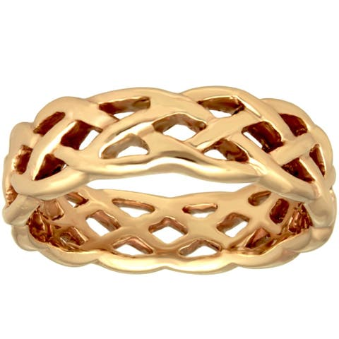 14k Yellow Gold Infinity Design Comfort Fit Men's Wedding Bands