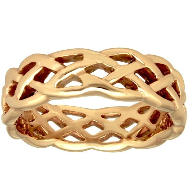 14k Yellow Gold Infinity Design Comfort Fit Men's Wedding Bands. Opens flyout.