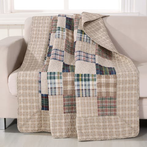 Greenland Home Fashions Oxford Quilted Throw