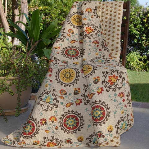 Greenland Home Fashions Andorra Quilted Throw