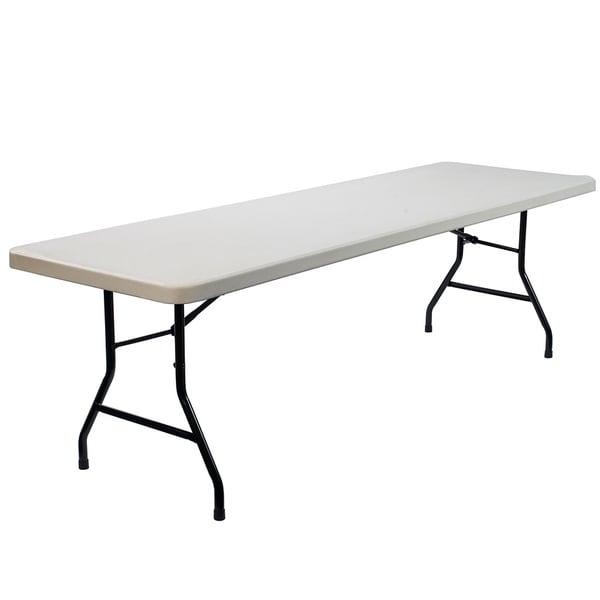 Lightweight Rectangular Plastic Folding Table (8 feet)
