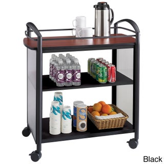 Safco Impromptu Beverage Hospitality Cart (Option: Black)