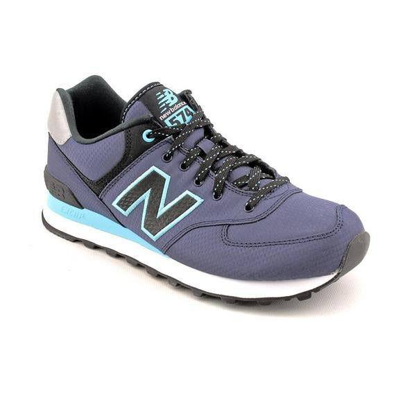 New Balance Men's 'ML574' Blue/Navy-Blue Synthetic Casual Shoes