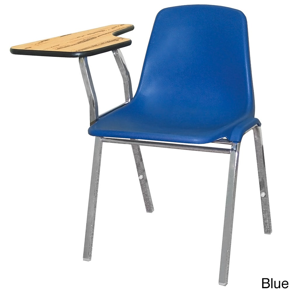 National Public Seating Polly Shell Tablet Arm Chair (Blu...
