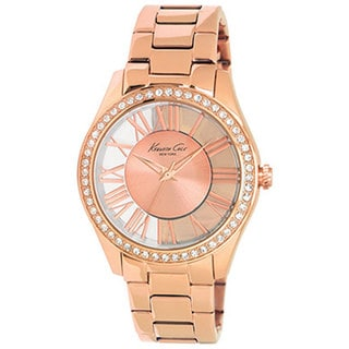 Kenneth Cole Women's Newness KC4852 Rose-Gold Stainless-Steel Quartz Watch with Rose-Gold Dial