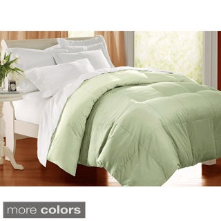 All season 233 TC Cotton Solid Color Down Alternative Comforter (3 options available)