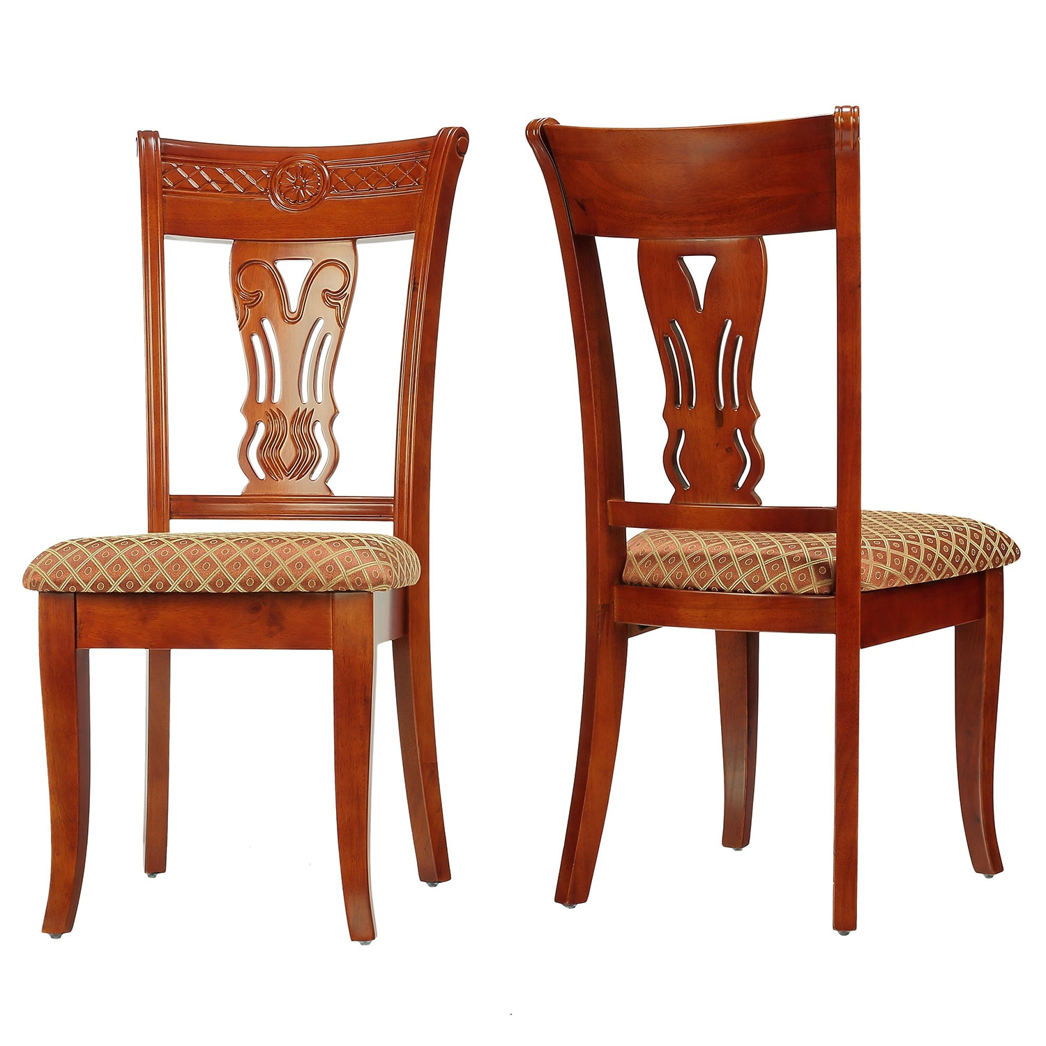 Cortesi Home Queen Ann Harp Back Dining Chair (Set of 2) ...