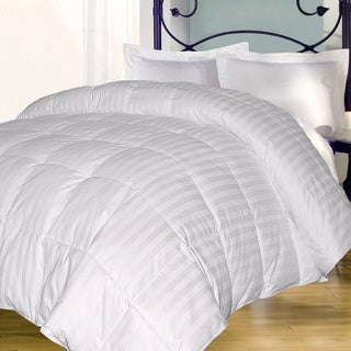 Egyptian Cotton Damask Stripe 400 Thread Count Down Alternative Comforter