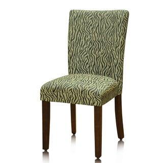 HomePop Pair Animal Print Parson Chairs (Set of 2)