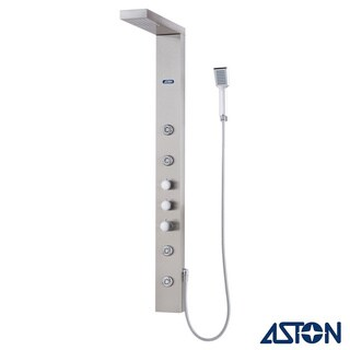 Aston 55-in Stainless Steel 4-Jet Multifunction Massaging Luxury Shower Panel Tower