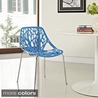 Stencil Chair in Blue Plastic