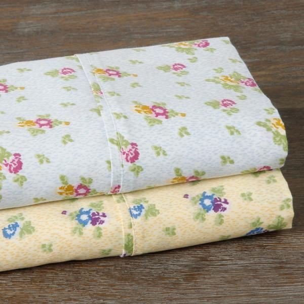 Carolina Rose 350 Thread Count Floral Sheet Set